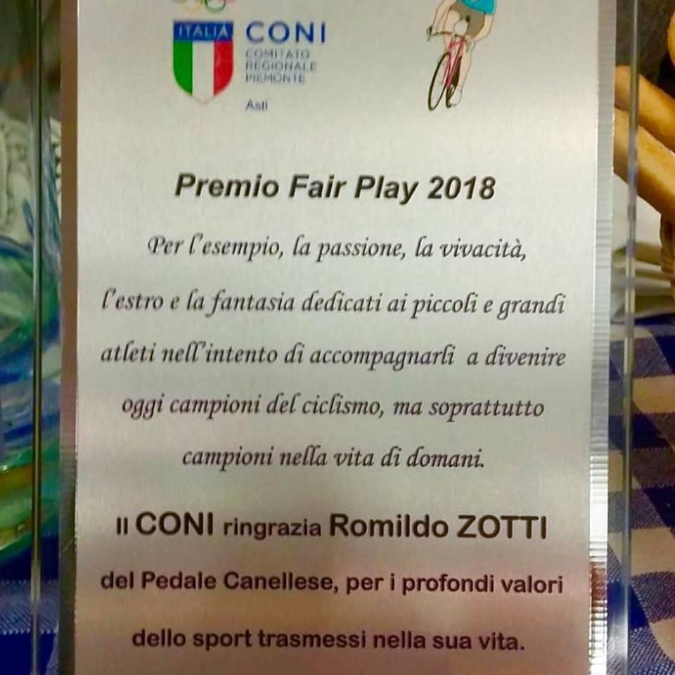 Diploma premio Fair Play